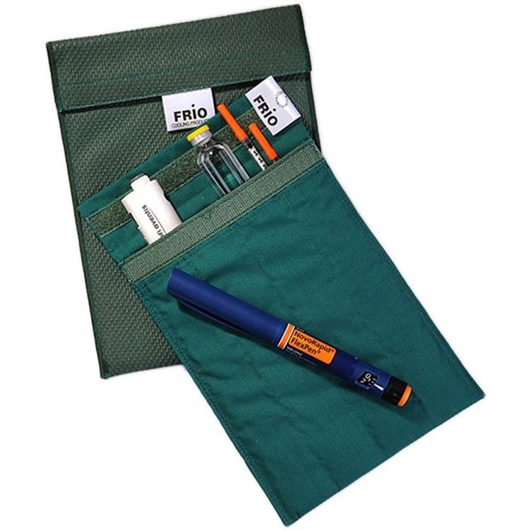 کیف خنک نگهدارنده انسولین فریو مخصوص حمل دو قلم انسولین سایز Duo pen   Frio Insulin Travel Wallet Size Duo pen