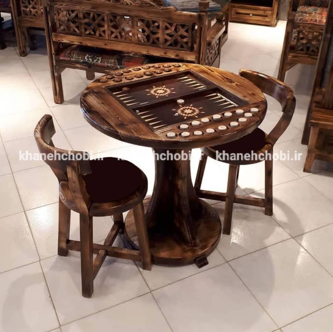 میزبازی تخته نرد و شطرنج مدل لهستانی
