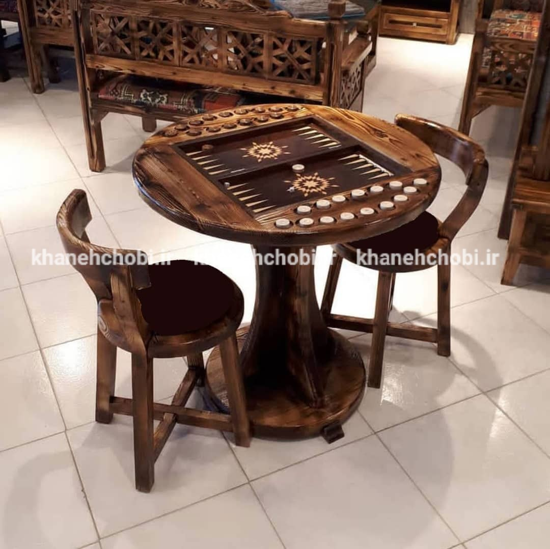 main images میزبازی تخته نرد و شطرنج مدل لهستانی