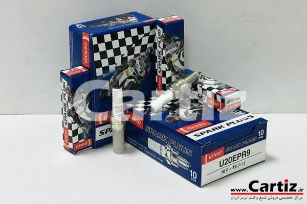 تصویر شمع موتورسیکلت استاندارد پالس و پولسار Denso ژاپن 4228 U20EPR9 U20EPR9