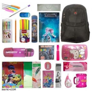عکس پکیج نوشت افزار دخترانه کلاس 5 و 6 متوسط Girl Package  پکیج-نوشت-افزار-دخترانه-کلاس-5-و-6-متوسط-girl-package