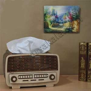 تصویر جا دستمال کاغذی طرح رادیو