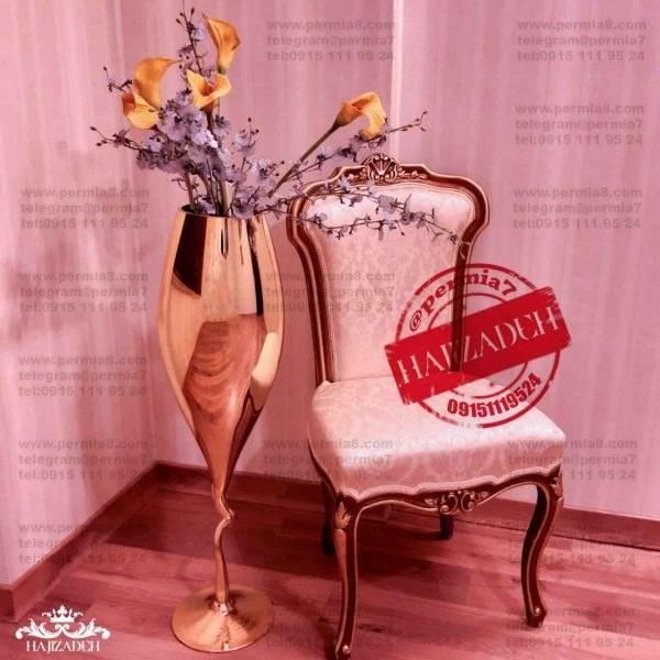 دکوریان گلدان کنار سالنی طلایی ساده  100 سانت  TALAEE-SADE