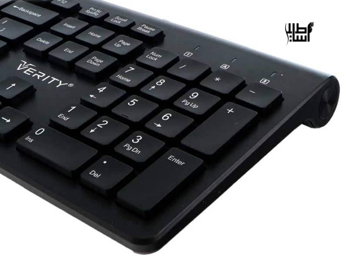 تصویر کیبورد Verity V-KB6119 (گارانتی ۱۲ ماهه) Verity V-KB6119 wired keyboard