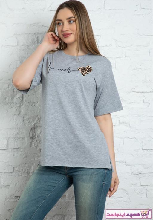 تصویر تیشرت زنانه شیک و جدید برند Trendbade Butik رنگ نقره ای کد ty92839743