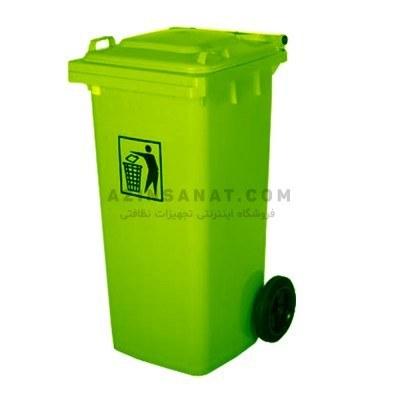 تصویر مخزن زباله 120 لیتری