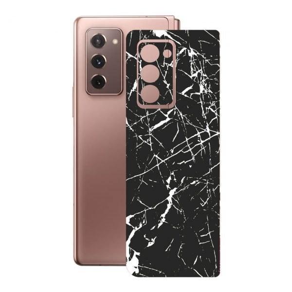 تصویر برچسب پوششی راک اسپیس طرح Marble-BK مناسب برای گوشی موبایل سامسونگ  Galaxy  Z  Fold2