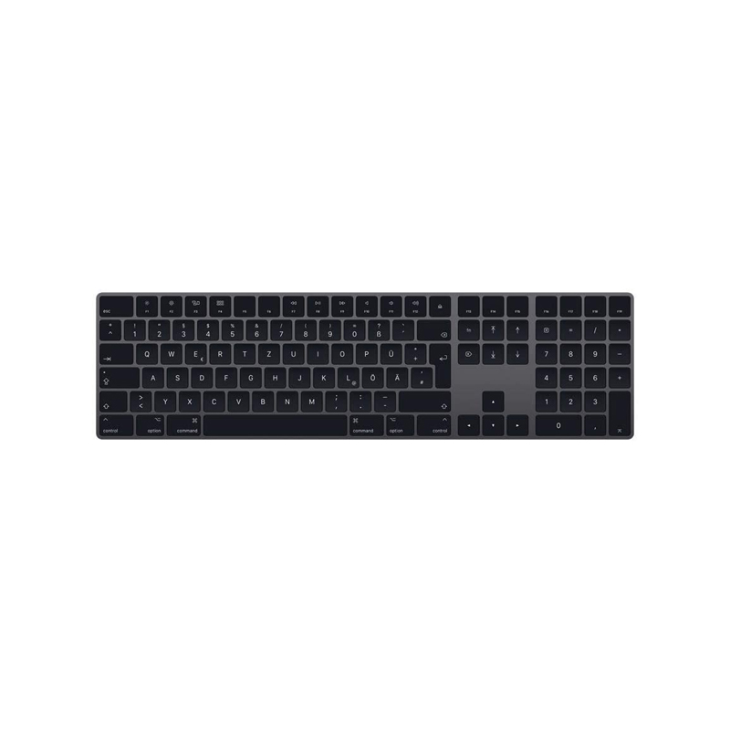 main images کیبرد اپل مدل Apple Magic Keyboard with Numeric Keypad - خاکستری Apple Magic Keyboard with Numeric Keypad - English Space Gray