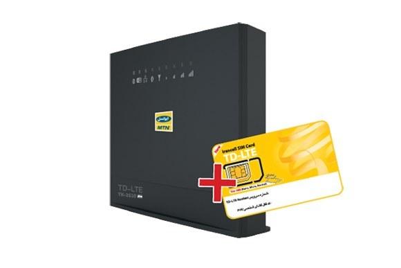 مودم ثابت ایرانسلTK-2510 +  (یکماهه نا محدود با سرعت 4Mbps ) | به همراه سیمکارت اینترنت نسل ۴ ثابت و همراه  بسته   (یکماهه نا محدود با سرعت 4Mbps )