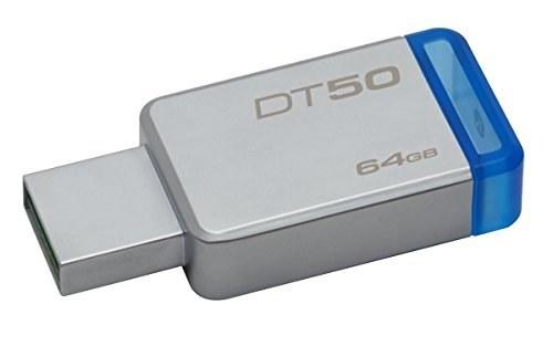 تصویر Kingston Digital 64 GB USB 3.0 Traveler Data 50، 110MB / s Read، 15MB / s نوشتن (DT50 / 64GB)
