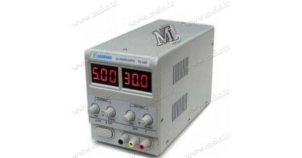 تصویر منبع تغذیه آزمایشگاهی دیجیتال 0 تا 30 ولت 5 آمپر PS-305D