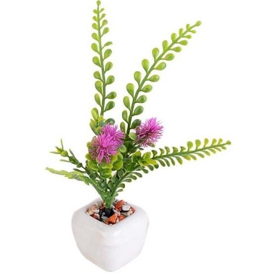 گلدان به همراه گل مصنوعی طرح گل انگشتی |