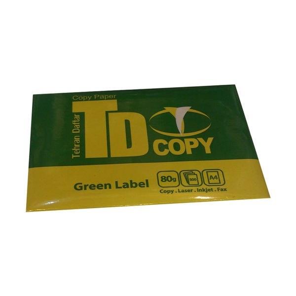 کاغذ 80 گرمی تی دی کپی سایز A4 بسته 500 عددی |