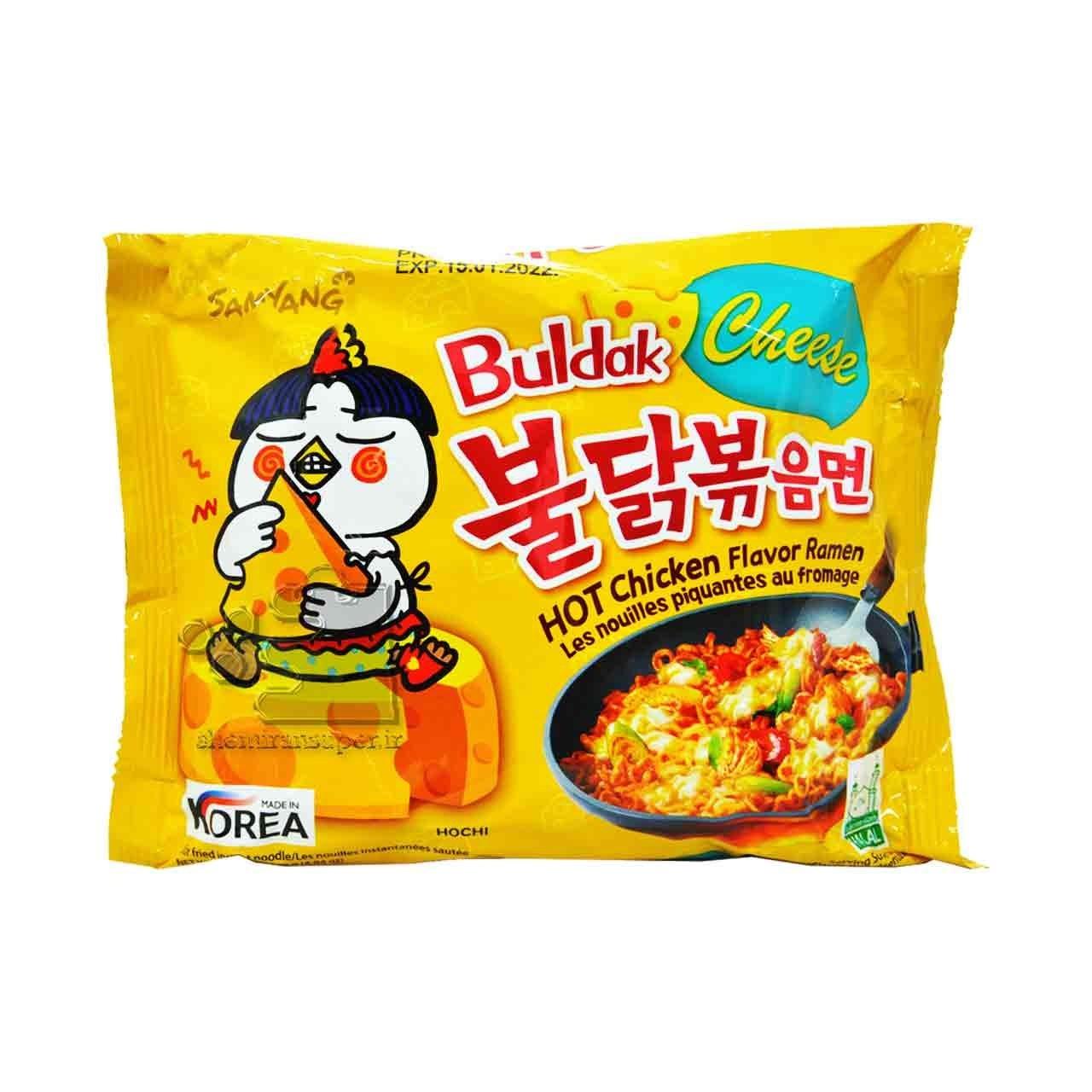 تصویر نودل کره ای (رامن ) طعم مرغ تند پنیری ۱۴۰ گرم بولداک سامیانگ – samyang