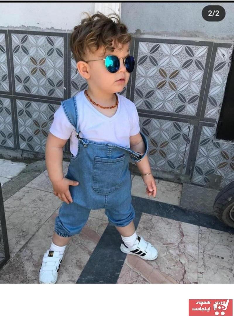 تصویر فروش سرهمی پسرانه شیک و جدید برند çocuk tarz giyim رنگ آبی کد ty101202553