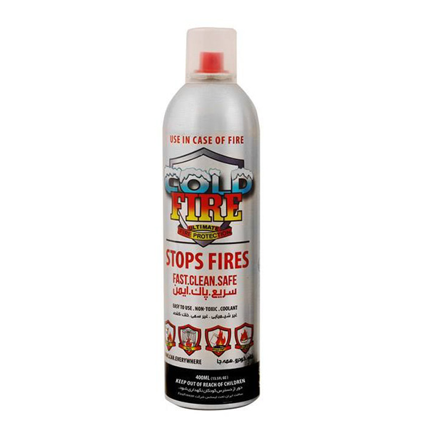 main images اسپری آتش خاموش کن کلد فایر 400 میلی