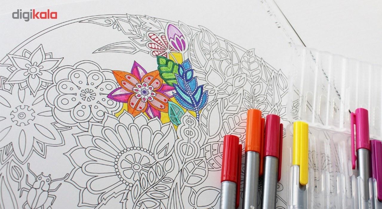 img روان نويس 42 رنگ استدلر مدل Triplus Fineliner Brilliant Colours Staedtler Triplus Fineliner Brilliant Colours 42 Color Rollerball Pen