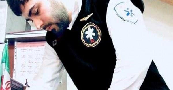 تصویر جلیقه (ژیله) مشکی فرم اورژانس ۱۱۵