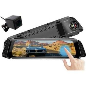 تصویر دوربین فیلمبرداری خودرو آیینه ای 10 اینچی CAR DVR MIRROR Car BlackBox Mirror 10 Inch 2 Camera