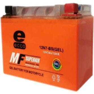 باتری موتور سیکلت اکو مدل 12N7-BS-GEL