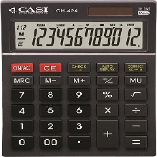 تصویر ماشین حساب کاسی مدل سی اچ 424 ماشین حساب کاسی CH-424 Calculator