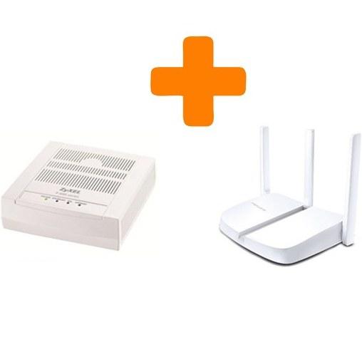 تصویر باندل مودم وایرلس ADSL اقتصادی مرکوسیس زایکسل