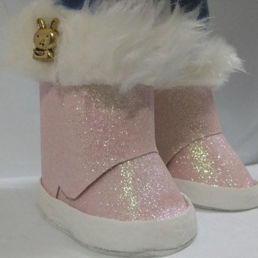 کفش چرم اکلیلی عروسک روسی 30 سانت دستساز