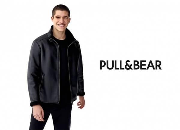 کاپشن چرم Pull & Bear |