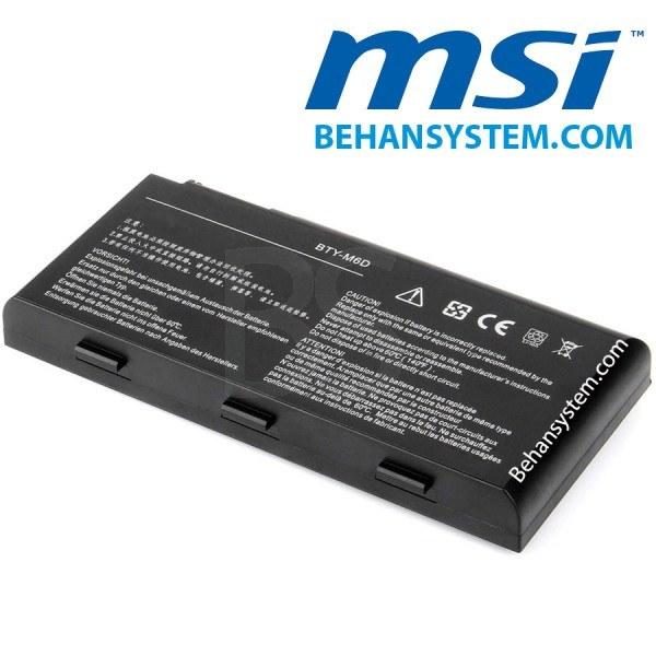 تصویر باتری لپ تاپ MSI مدل GX660 (برند M&M دارای سلول سامسونگ ساخت کره)