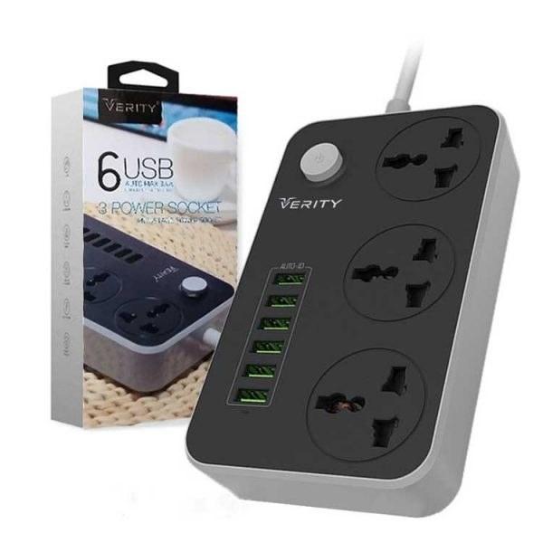 شارژر USB و چندراهی برق VERITY مدل PS3110