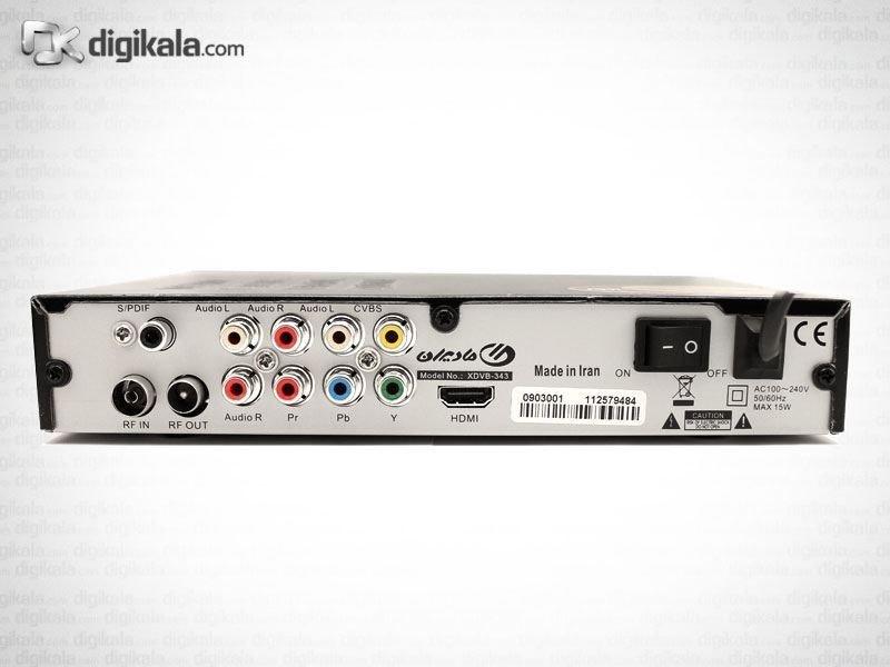 تصویر گیرنده تلویزیون دیجیتال ایکس ویژن مدل XDVB-343 X.Vision XDVB-343
