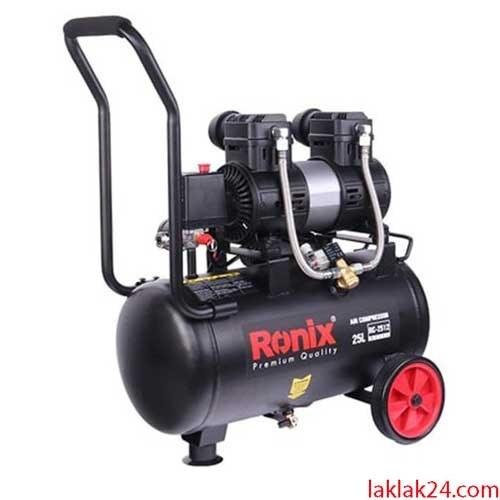 تصویر کمپرسور باد 25 لیتری بی صدا رونیکس مدل RC-2512 Ronix RC-2512 Silence Air Compressor 25Ltr
