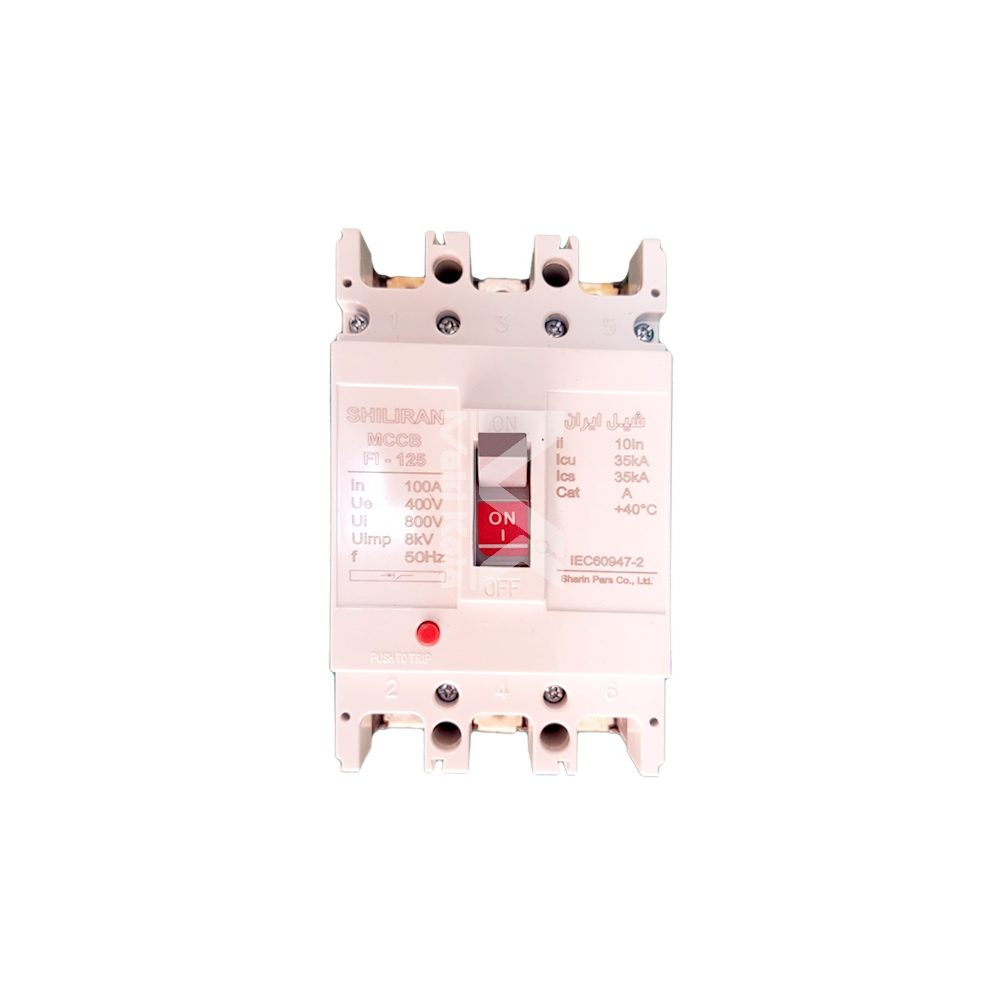 تصویر کلید اتوماتیک کامپکت 80 آمپر شیل ایران compact automatic switch 80 A