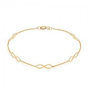 عکس دستبند طلا زنانه طرح بی نهایت LB116  دستبند-طلا-زنانه-طرح-بی-نهایت-lb116