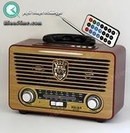 رادیو سبک قدیمی طرح چوبی رنگ روشن مدل 115BT