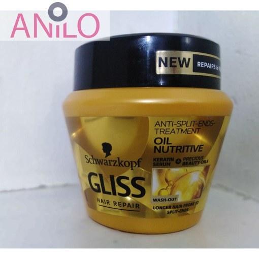 ماسک مو روغنی ترمیم کننده و مغذی مو Oil Nutritive گلیس حجم 300 میل