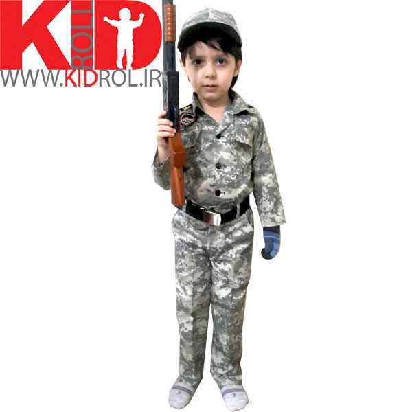 تصویر لباس نظامی بچه گانه مدل کامپیوتری