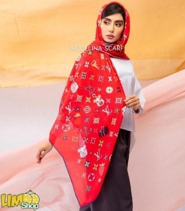 تصویر روسری لویی ویتون نخی قواره بزرگ