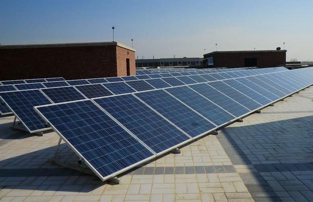 تصویر نیروگاه 10 کیلووات خورشیدی