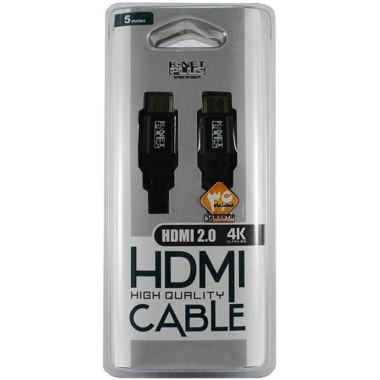 تصویر کابل2.0 HDMI کی نت پلاس5m
