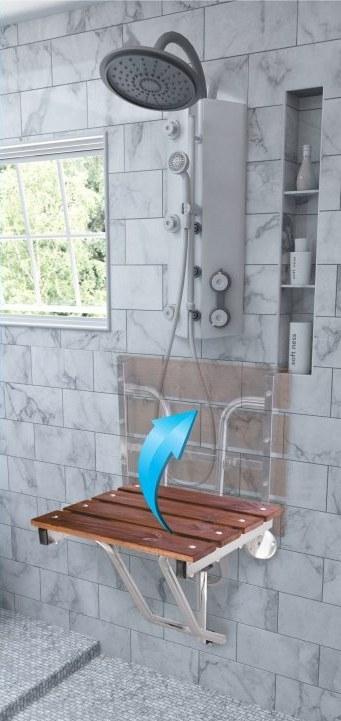 صندلی حمام تاشو دیواری