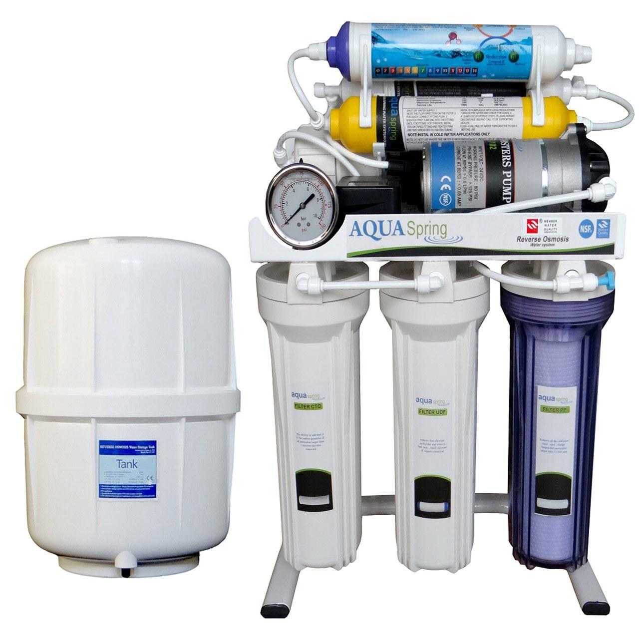 تصویر تصفیه آب خانگی آکوآاسپرینگ مدل RO-S151 Aquaspring RO-S151 Water Purifier