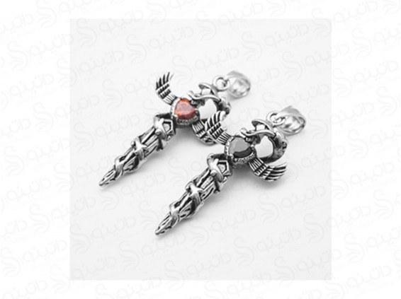 گردنبند مردانه مار مرگ پیچیده بر صلیب jewellery-10011