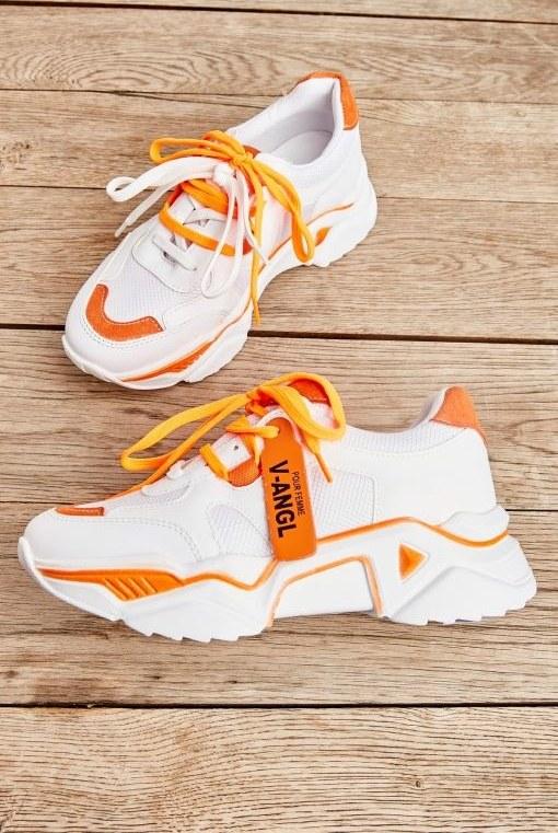 کفش اسپرت اسنیکر سفید زنانه برند Bambi کد 1590158139