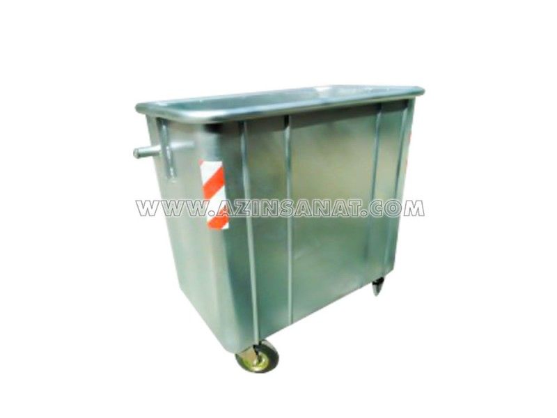 تصویر مخزن زباله 770 لیتری گالوانیزه مکعب بدون درب ( با ورق 2)