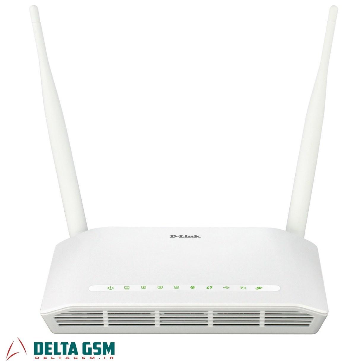 تصویر مودم روتر بی سیم D_LINK 2750 U ADSL2 PLUS دی لینک N300