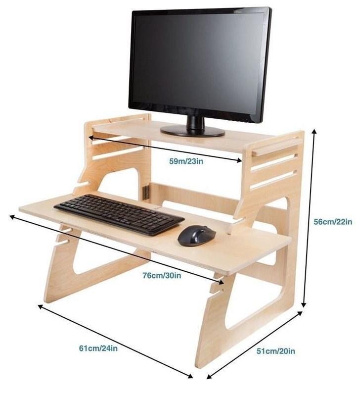 تصویر میز کامپیوتر و لپ تاپ مدل pc1604
