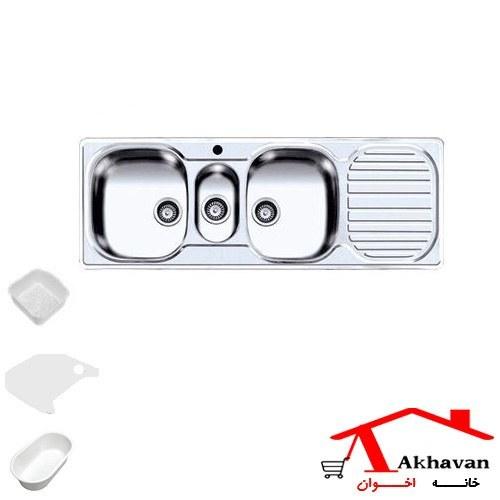 سینک ظرفشویی توکار اخوان مدل Akhavan Double Bowl Sink 16 |