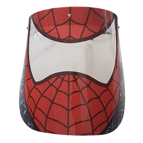 تصویر شیلد متحرک محافظ صورت کودک پسرانه طرح مرد عنکبوتی