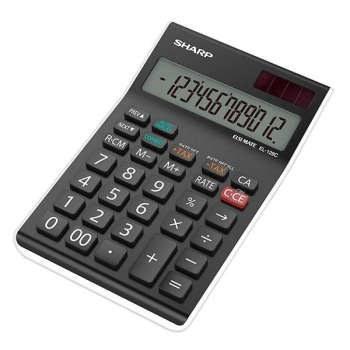 تصویر ماشین حساب شارپ مدل EL-128C-WH